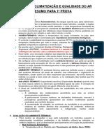 RESUMO 1º PROVA - SISTEMAS DE CLIMATIZAÇÃO E QUALIDADE DO AR.docx