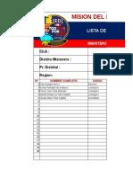 Lista ED, CQS Participantes 2020