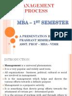 MBA 1ST SEM - MANAGEMENT PROCESS.ppt