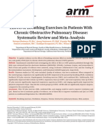 Effects of Breathing Exercises in Patients With Chronic Obstructive Pulmonary Disease- Systematic Review and Meta-Analysis