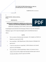 Foreclosure Emergency Motion to Cancel Sale Vacate Final Judgment and Set Aside Default-