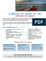 CARRIAGE OF GOODS BY SEA - THE BILL OF LADING