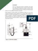 Manómetros de columna líquida