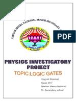 Logic Gates - Class 12 Physics Investigatory Project Report Free PDF Download.docx