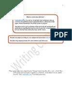 Sample Literature Review
