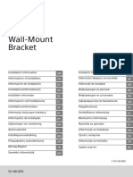 Sony TV WALL MOUNT Bracket install guide