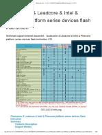 Qualcomm & Leadcore & Intel & Pinecone platform series devices flash instruction V23
