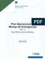 Plan Operacional de Manejo de Emergencias