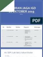 Laporan Jaga IGD 28 Oktober 2019.pptx