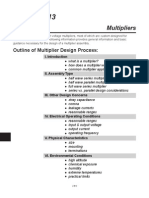 Multiplier Design Guideline