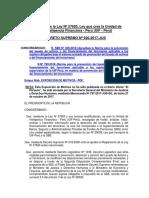 Reglamento de la Ley 27693