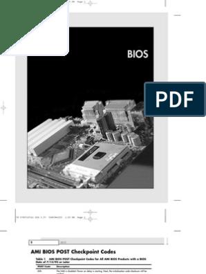 Phoenix BIOS Beep and Error Codes | Bios | Booting
