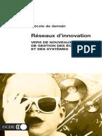 (École de demain.) OECD - Réseaux d'innovation _ vers de nouveaux modèles de gestion des écoles et des systèmes-Les Ed. de l'OCDE (2003)