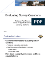 Lecture 3-1 -- Evaluating Survey Questions