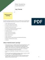 Reinforcement Learning Tutorial