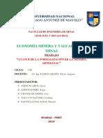 Avance de La Formalizacion de La Mineria Artesanal