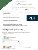 Presupuesto de efectivo _ Presupuesto de caja