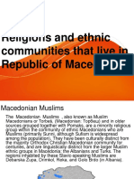 Religions and ethnic communities that live in Republic of Macedonia.ppt