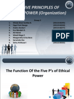 00 THE FIVE PRINCIPLES OF ETHICAL POWER (Organization.ppt