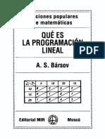 Bársov - Qué es la programación lineal.pdf