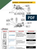 Retroexcavadora 420F- Etiquetas de Advertencia
