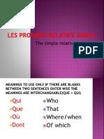 Les Pronoms Relatifs Simple