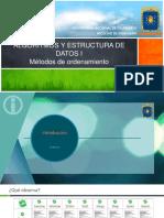 AEDI - 09 - Métodos de Ordenamiento.pdf