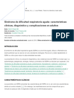 Acute respiratory distress syndrome_ Clinical features, diagnosis, and complications in adults - UpToDate