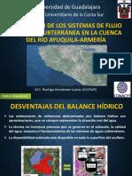 Sistemas de Flujo de agua subterránea en la Cuenca del Río Ayuquila RHJ