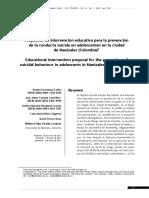 9. Propuesta de intervención educativa para la prevención de la conducta suicida en adolescentes en la ciudad de Manizales (Colombia).pdf