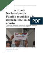 Reitera Frente Nacional por la Familia repulsión a la despenalización del aborto.docx