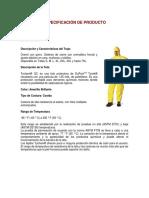 FT - TRAJE CONTRA QUIMICOS QC127S