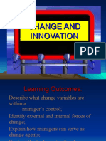 Change and Innovation by Prof.  Esponilla