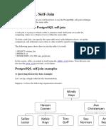 PostgreSQL Self Join