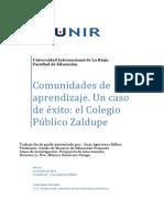 INFORME DE COMUNIDADES DE APRENDIZAJE