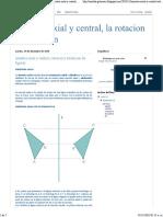 Simetria Axial y Central, Rotacion y Traslacion de Figuras