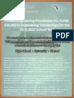 2020 FES Scholarship Flyer