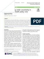 Decision-making under uncertainty in environmental health policy