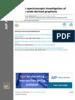 A Raman spectroscopic investigation of graphite oxide derived graphene