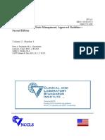 NCCLS - GP5-A2 - Clinical Lab Waste Management
