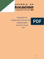 Programa Facilitadores Comunitarios