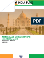 AIM India Fund Metals and Media Sector RV Albuero for Printing