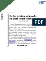 [AP] Verden Receives High marks