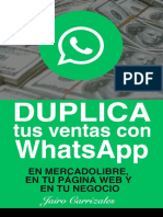 Duplica tus ventas con WhatsApp - Jairo Carrizales