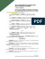 Extrajudicial Settlement with SPA [ROXAS]