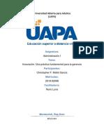 TAREA 9 (Innovación Una práctica fundamental para la gerencia )