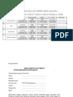 Jadwal Penjelasan Dokumen Lelang 2009