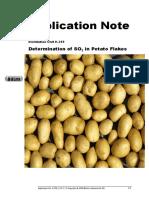SO2 determination in Potato Flakes K-355
