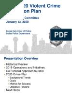 Dallas Police Violent Crime Reduction Plan