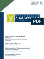 1.2 Investigación -Canales y modelos de comunicación virtual